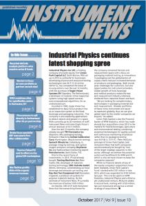 Instrument News - October 2017